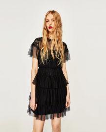 short tulle dress at Zara