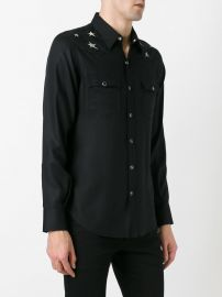 shoulder star print shirt by Saint Laurent at Farfetch