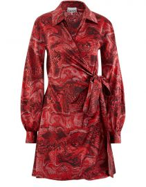 silk wrap dress ganni at 24S