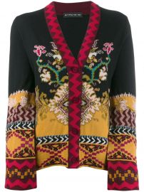 slim-fit patterned cardigan at Farfetch