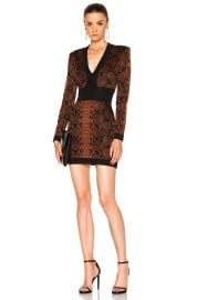 snake print dress balmain at Forward