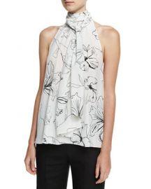 Diane von Furstenberg High Neck Silk Blouse at Neiman Marcus