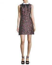 Kate spade collared sleeveless floral jacquard dress at Neiman Marcus