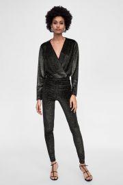 sparkly velvet bodysuit at Zara