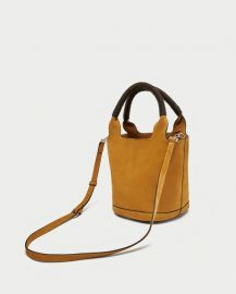 split suede midi tote bag at Zara