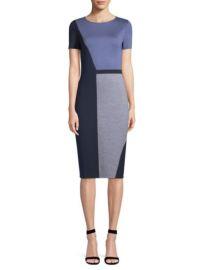 st john Geometric Colorblock Knit Sheath Dress at Saks Fifth Avenue
