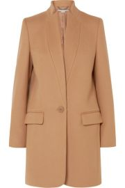 stella mccartney Bryce melton wool-blend coat at Net A Porter