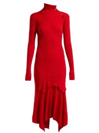 stella mccartney Handkerchief-hem ribbed-knit dress at Matches