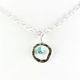 sterling silver necklace with turquoise bead at Etsy