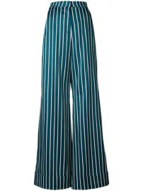 striped palazzo trousers at Farfetch