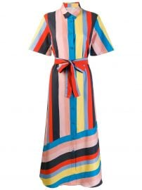 striped shirt dress at Farfetch