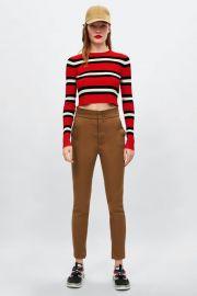 striped cropped sweater at Zara