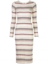 striped print dress at Farfetch