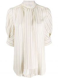striped pussy-bow blouse at Farfetch