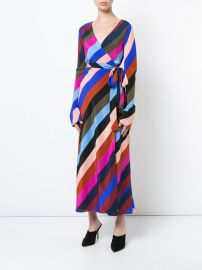 striped wrap dress at Farfetch