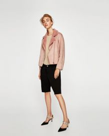 suede effect jacket at Zara