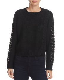sunset spring Hardware Detail Cable-Knit Sweater at Bloomingdales