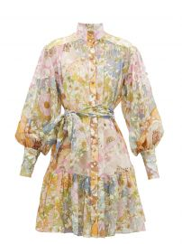 super Eight Floral Print Long Sleeve Lantern Minidress by Zimmermann at Matches