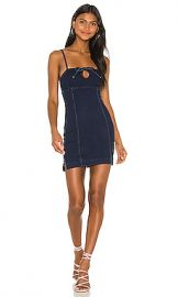 superdown Adelie Tie Front Mini Dress in Dark Blue Wash from Revolve com at Revolve