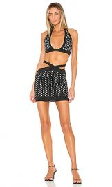 superdown Alexandria Rhinestone Skirt Set in Black from Revolve com at Revolve