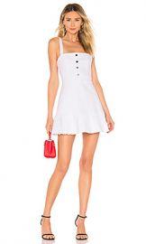 superdown Carmen Denim Button Up Dress in White from Revolve com at Revolve
