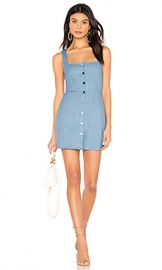superdown Demi Button Up Mini Dress in Light Blue Denim from Revolve com at Revolve