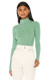 superdown Deonna Mock Neck Sweater in Sage from Revolve com at Revolve