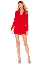 superdown Joan Belted Blazer Dress in Red from Revolve com at Revolve