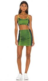 superdown Moriah Contrast Skirt Set in Navy  amp  Lime from Revolve com at Revolve