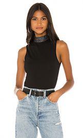 superdown Rochelle Studded Bodysuit in Black from Revolve com at Revolve