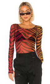 superdown Trina Mesh Bodysuit in Tiger Multi from Revolve com at Revolve