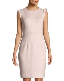 t tahari Faux-Suede Sheath Dress at Last Call