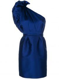 taffeta one-shoulder dress at Farfetch
