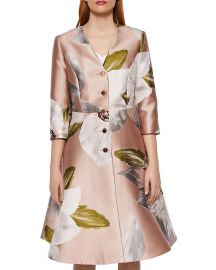 ted baker Ottie Chatsworth Bloom Dress Coat at Bloomingdales