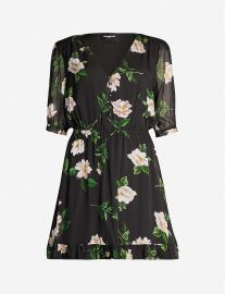 the kooples Floral-print silk-chiffon dress at Selfridges
