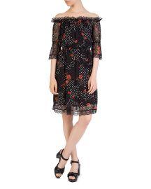the kooples Popi Pop Off-the-Shoulder Floral-Print Dress at Bloomingdales
