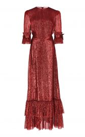the vampires wife THE VENERATION TIERED SILK-BLEND GOWN at Moda Operandi