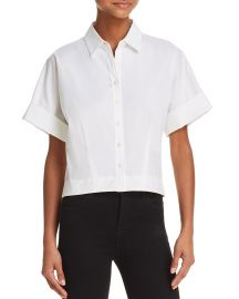 theory Cropped Button-Down Shirt at Bloomingdales