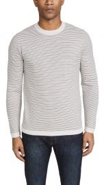 theory Long Sleeve Merino Wool Stripe Sweater at East Dane