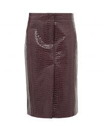 tibi Crocodile-effect patent midi skirt at Matches