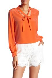 tie neck blouse by Trina Turk at Nordstrom Rack