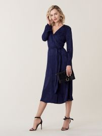 tilly Burnout Midi Wrap Dress at DvF