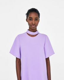 top with button detail at Zara