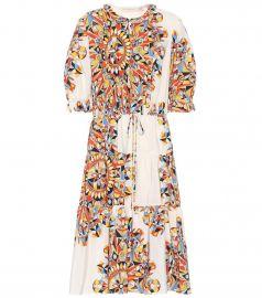 tory burch Arabella printed silk dress at My Theresa