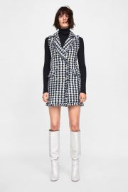 tweed dress at Zara