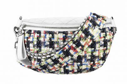 tweed waist bag at Chanel