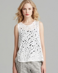 twenty tees Tank - Rippled Perforated Muscle at Bloomingdales