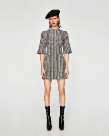 two-tone tweed dress at Zara