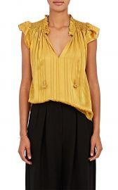 ulla johnson Deja Striped Silk Top at Barneys
