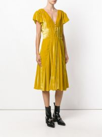 v-neck flared dress by Altuzarra at Farfetch